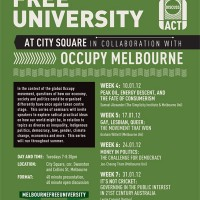 Free Public Talk in Melbourne's City Square